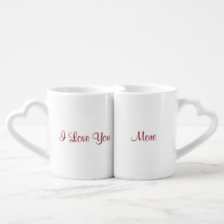 Te amo más set de tazas de café