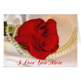 Te amo más tarjeta de felicitación