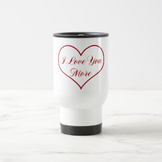 Te amo más taza de viaje