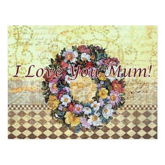 Te amo momia - postal
