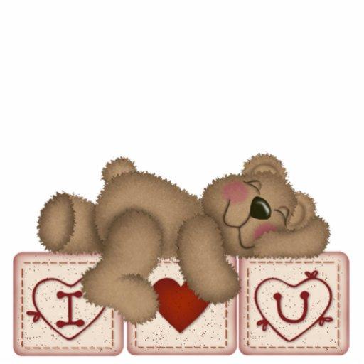 Te amo oso de peluche - escultura esculturas fotograficas