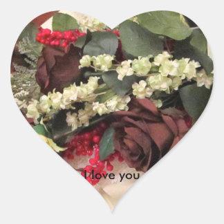 Te amo pegatinas pegatina en forma de corazón