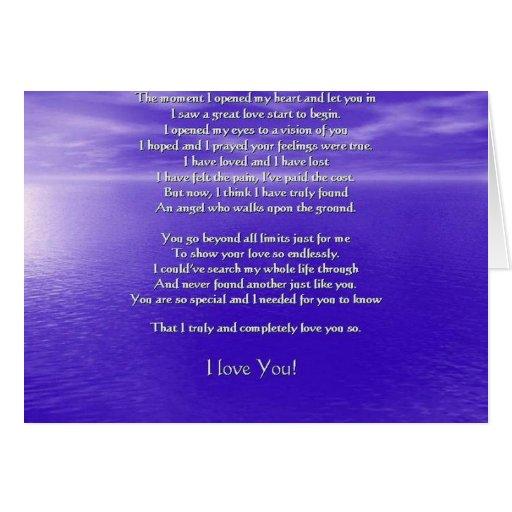 Te amo poema felicitacion