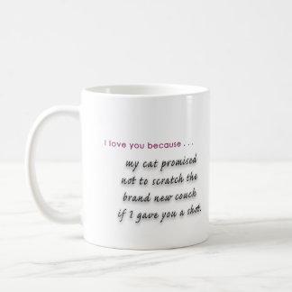 """""""Te amo porque… mi gato me dijo"""" asaltar Taza De Café"""