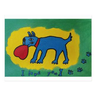 Te amo postal