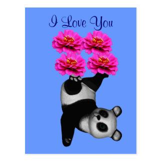 Te amo postal de la foto de la flor del oso de pan