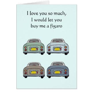 Te amo tanto la tarjeta de la tarjeta del día de
