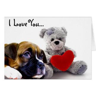 Te amo tarjeta de felicitación del perrito del