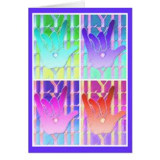Te amo tarjeta de ILY
