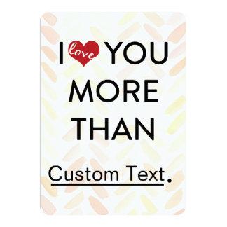 Te amo tarjeta del día de San Valentín más que Invitación 12,7 X 17,8 Cm