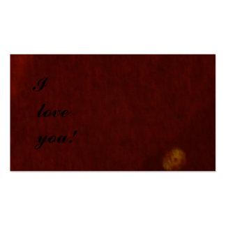 ¡Te amo! Tarjeta del mensaje Plantilla De Tarjeta De Visita