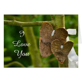 """""""Te amo"""" tarjeta feliz del aniversario"""