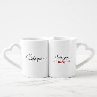 Te amo/te amo más taza de los pares