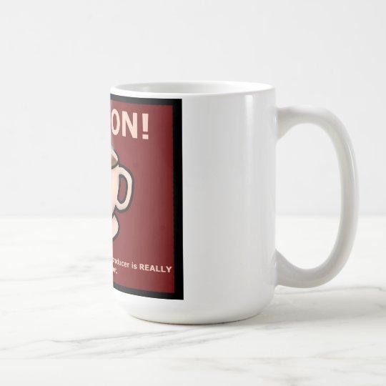 Té caliente de la guía de Hitchiker Taza De Café