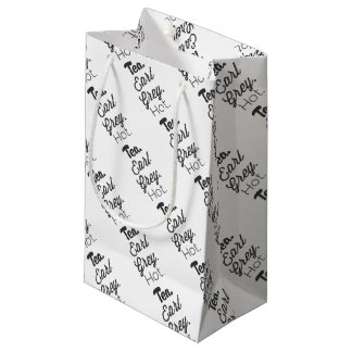 Té - caliente gris del conde bolsa de regalo pequeña