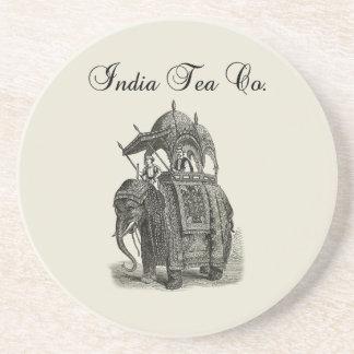 Té Co del elefante el | la India Posavasos Manualidades