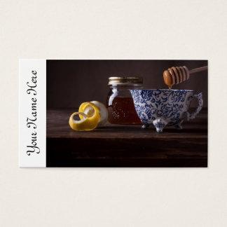 Té con el limón y la miel tarjeta de negocios