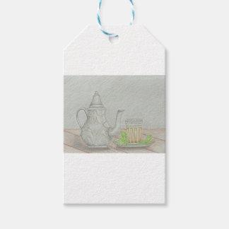 té con la menta etiquetas para regalos
