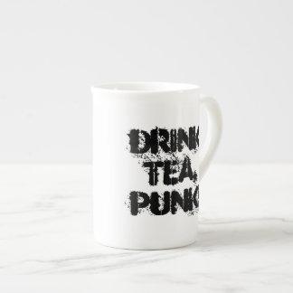 ¡Té de la bebida, punk! taza de la porcelana de Taza De Porcelana