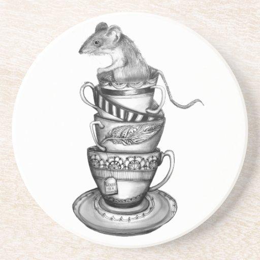 Té del ratón posavaso para bebida