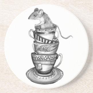 Té del ratón posavasos diseño