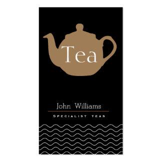 Té especial tés tetería tetera elegante simple tarjetas de visita