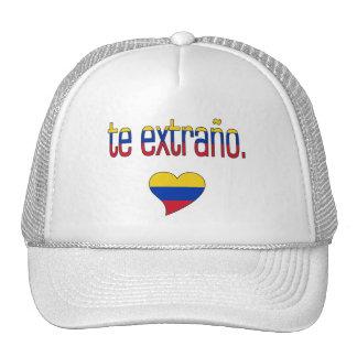 ¡Te Extraño! Colores de la bandera de Venezuela Gorras De Camionero