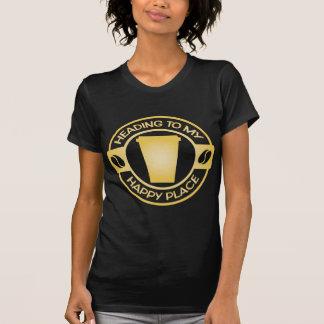té feliz starbucks del café del lugar camisas