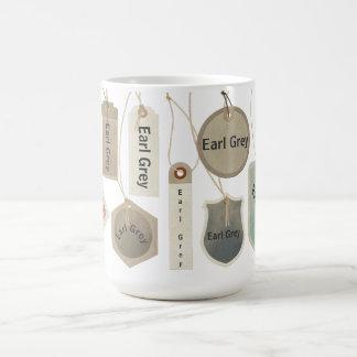 Té gris o cualquier monograma el | del conde del taza de café