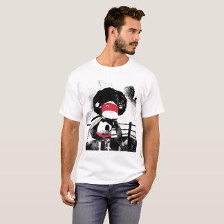 Te hecha a mano del gráfico del carácter del mono camiseta