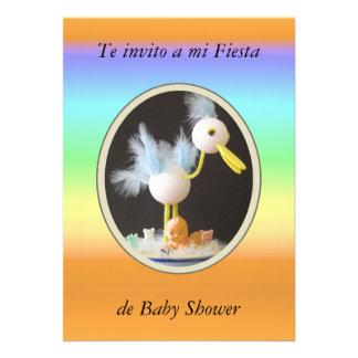 Te invito a mi fiesta de Baby Shower Comunicado Personal