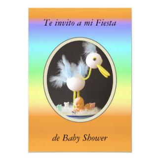 Te invito a mi fiesta de Baby Shower Invitación 12,7 X 17,8 Cm