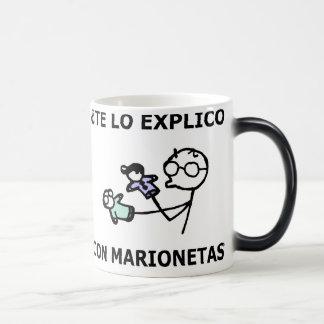 ¿te lo explico con marionetas? taza