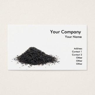 Té negro tarjeta de negocios