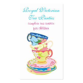 Té o tarjetas de cerámica de la empresa de servici tarjetas de visita