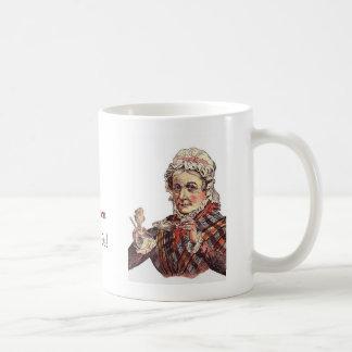 Té para la abuela taza básica blanca