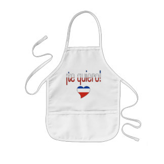 ¡¡Te Quiero! Colores de la bandera de Chile Delantales