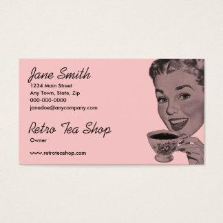 Té retro tarjeta de negocios