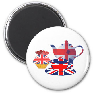 Té-tiempo inglés, regalos del arte de Union Jack Iman