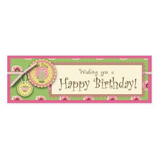 Té verde de la etiqueta flaca del regalo del tarjetas de visita mini