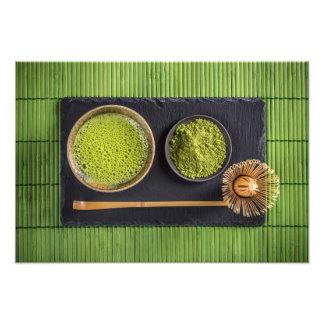 Té verde de Matcha Impresión Fotográfica