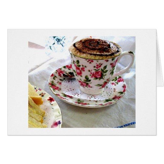 Té y bocadillos tarjeta de felicitación