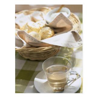 Té y maíz de hierba postal