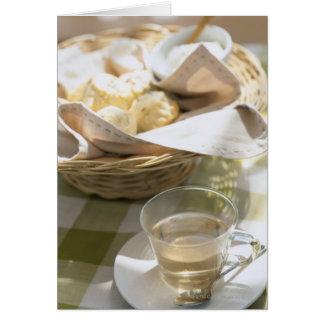 Té y maíz de hierba tarjeta de felicitación