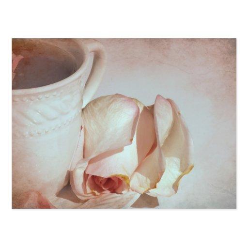 Té y rosas tarjetas postales