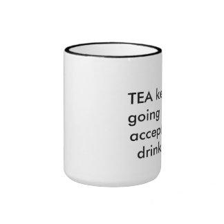 Té y vino taza de dos colores