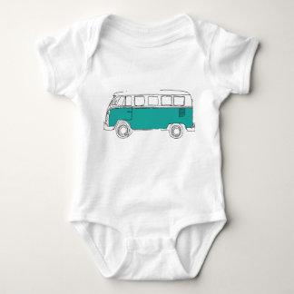 Teal Van Bodysuit - regalo del bebé Body Para Bebé