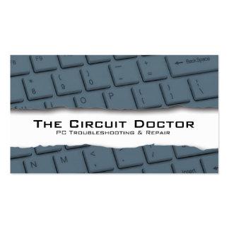 Tearaway del teclado de la tarjeta de visita de la