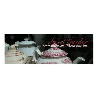 Teatime Tarjetas De Visita Mini