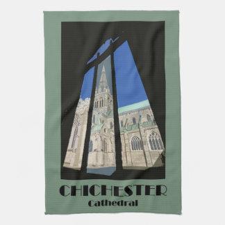 Teatowel de la catedral de Chichester Toalla De Mano